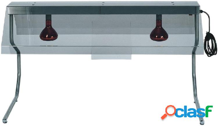 Telaio in inox con 2 lampade a raggi infrarossi