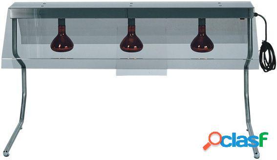 Telaio in inox con 3 lampade a raggi infrarossi