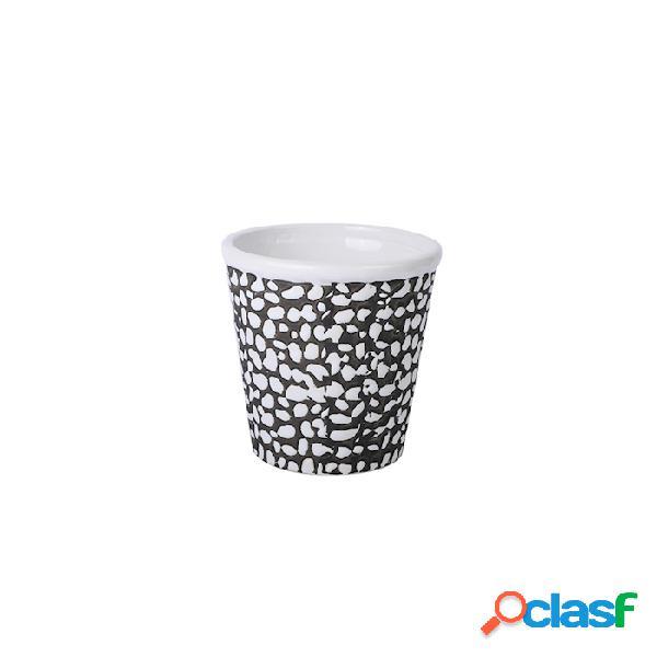 Tiki Mug Reptil In Porcellana Bianca E Nera Cl 43 - Bianco