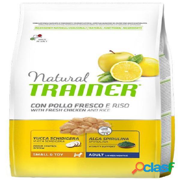 Trainer natural cane small & toy pollo riso 800 gr