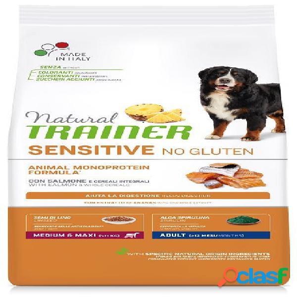 Trainer natural sensitive no gluten adult medio maxi salmone