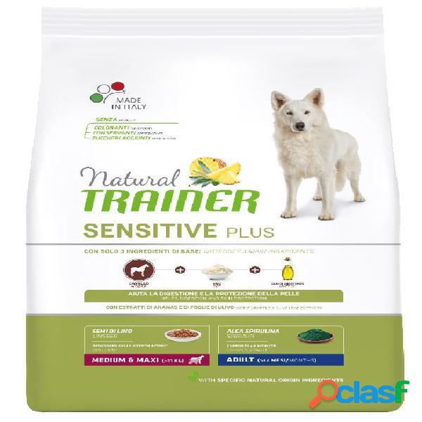 Trainer natural sensitive plus adult medio maxi kg 12