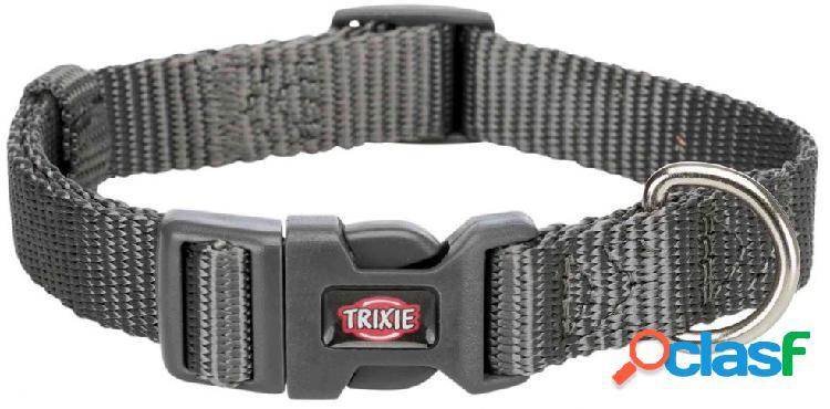 Trixie premium collare xxs - xs 15-25 cm / 10 mm grigio