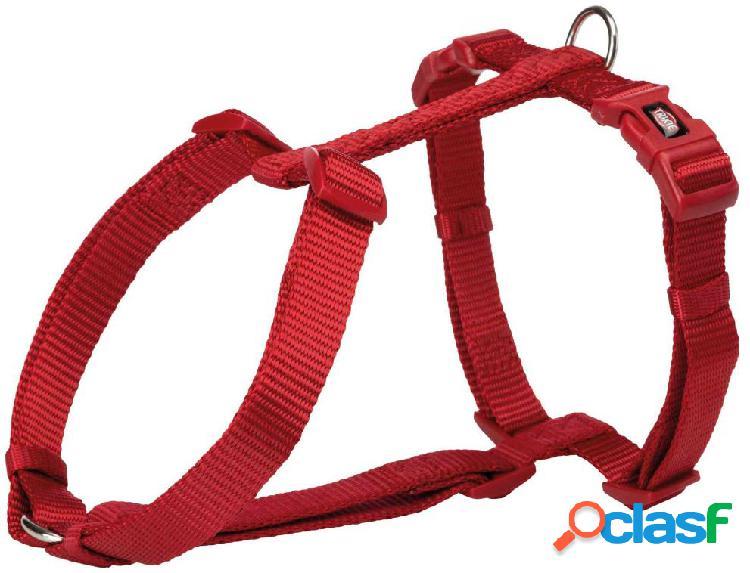 Trixie premium pettorina h m - l 52-75 cm/20 mm rosso
