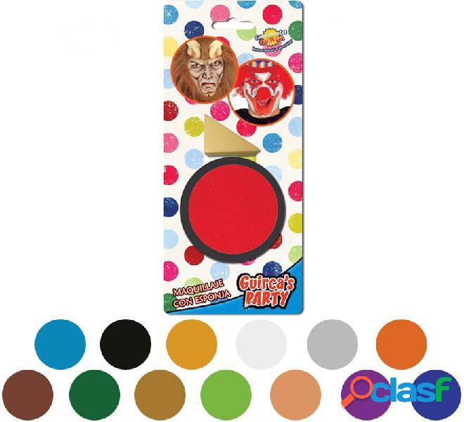 Trucco cremoso con spugna in vari colori
