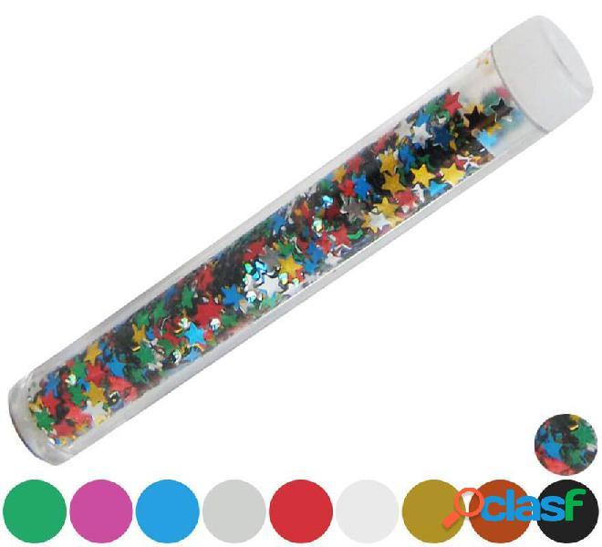 Tubo di coriandoli di stelle in vari colori