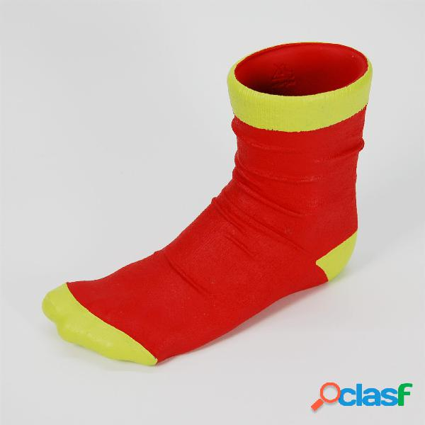Vaso calzino utile anche come porta penne 10x21xh17 cm in