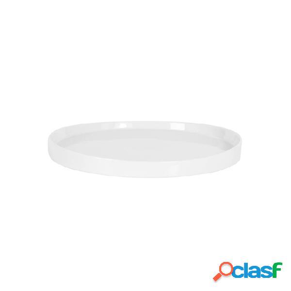 Vassoio Tondo In Porcellana Bianca Cm 25 - Bianco