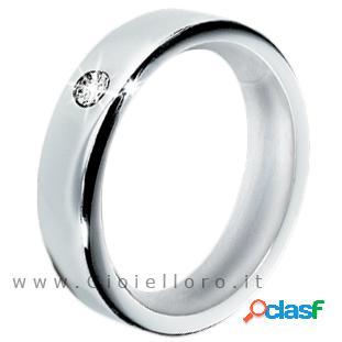anello morellato cult in acciaio con diamante s8515 misura
