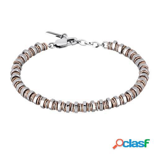 bracciale 2jewels da uomo in acciaio e pvd oro bolt 2.0