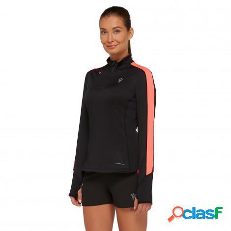 maglia con zip 1/4 a manica lunga running donna jessica