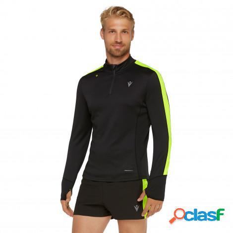maglia con zip 1/4 a manica lunga running uomo adrian