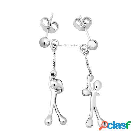 orecchini con charm in argento gs4008
