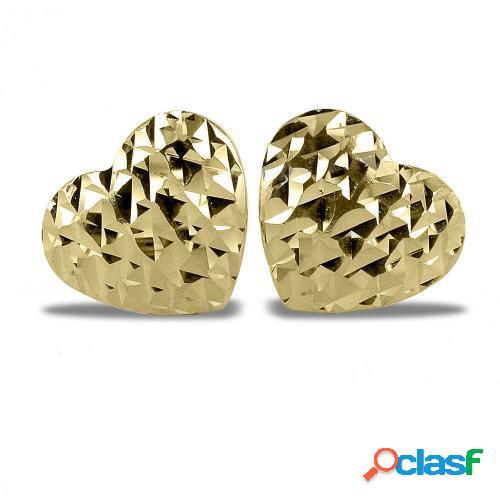orecchini cuore in oro giallo