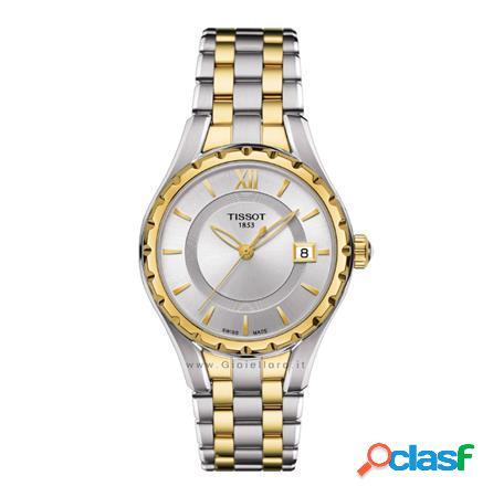 orologio lady t072 quartz t072.210.22.038.00 pvd oro giallo
