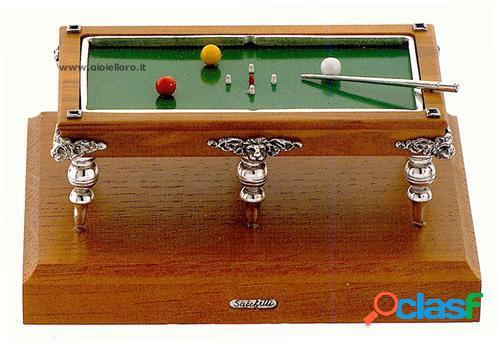tavolo da biliardo in argento 925/000 e legno