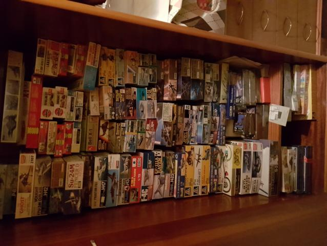 vendo 127 scatole di montaggio varie marche (HESEGAWA,