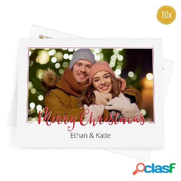 Biglietti d'auguri natalizi con foto - 10 biglietti