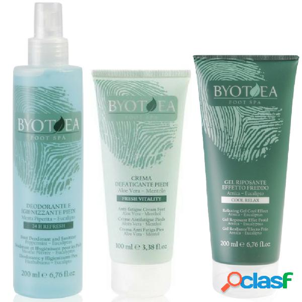 Byotea Kit Defaticante e Igienizzante Piedi e Gambe