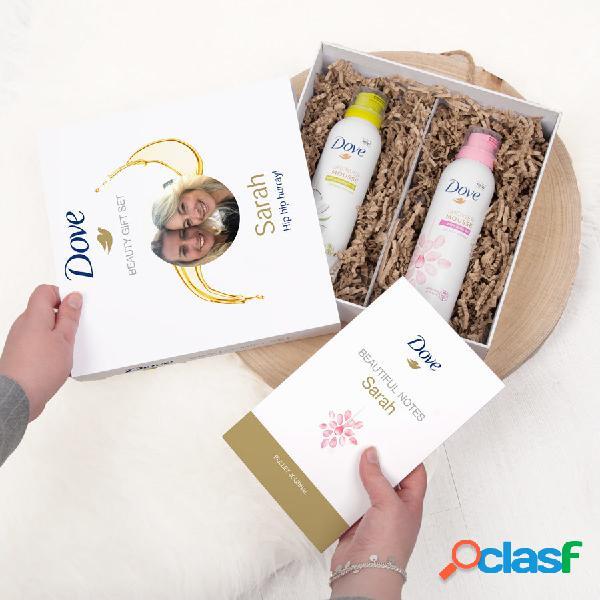 Dove - Confezione regalo - mousse doccia e Bullet journal