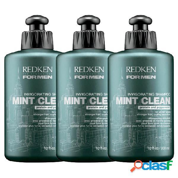 Redken Kit For Men Mint Clean Shampoo 300 ml x 3