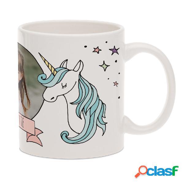 Tazza unicorno con foto