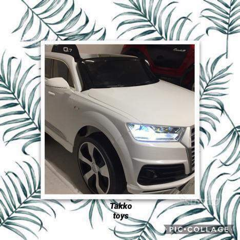 Auto macchina elettrica Q7 bianco (licenza)
