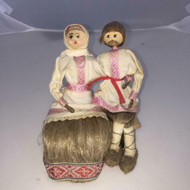 Bambola russa lavorazione in lino