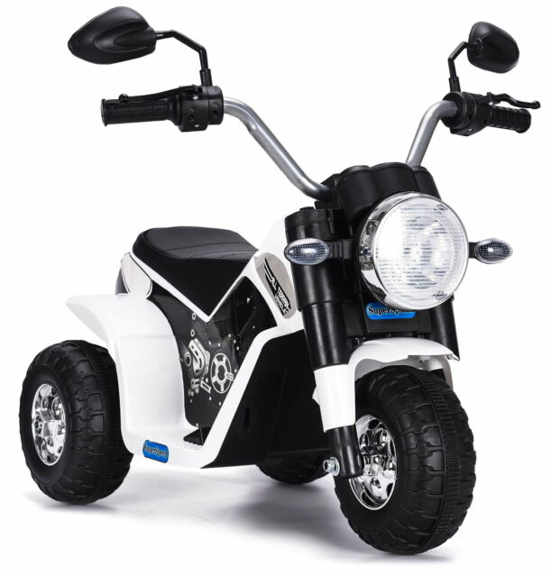 Moto Elettrica Per Bambini 6v Kid Go Baby Bianca