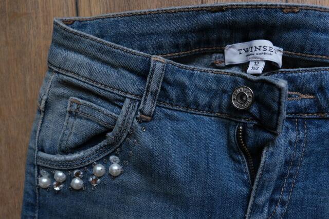 Twin set jeans bambina con perle