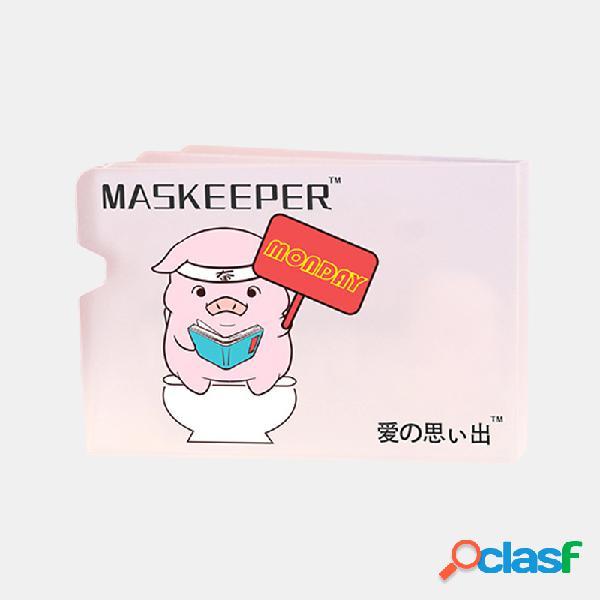5 pezzi Maschera Trasparente Clip di archiviazione Portatile