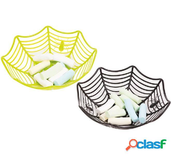 Ciotola con ragno e rete in 2 colori assortiti di 28 cm