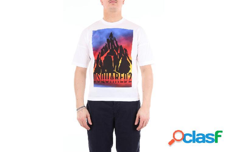 DSQUARED2 Dsquared2 t-shirt maniche corte di colore bianco