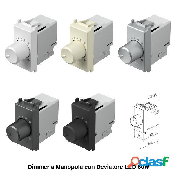 Dimmer a manopola con deviatore LED 60W - 1M