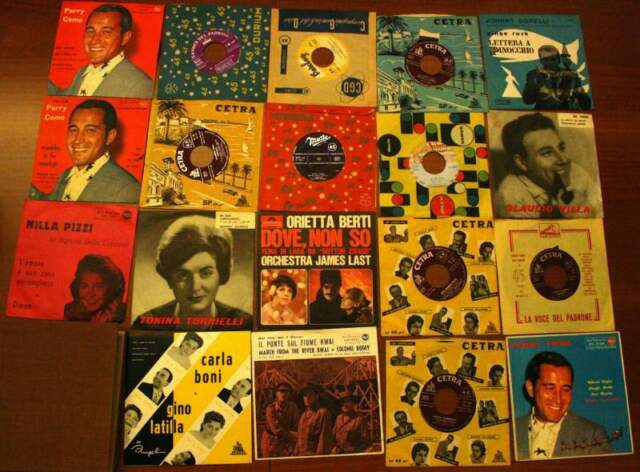 Dischi, LP, 33 e 45 giri musica leggera italiana e classica
