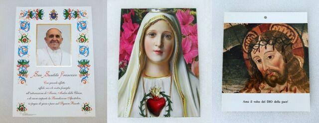 IMMAGINI SACRE Papa Francesco, Madonna di Fatima, Gesù