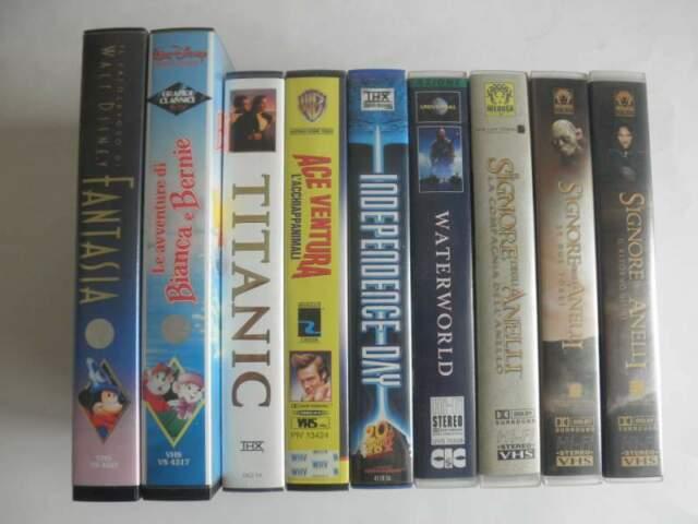 Lotto di 9 Videocassette VHS film vari