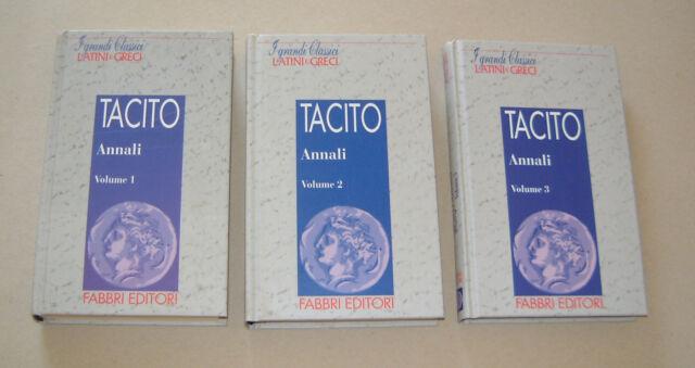 TACITO - Annali Vol. 1, 2 & 3