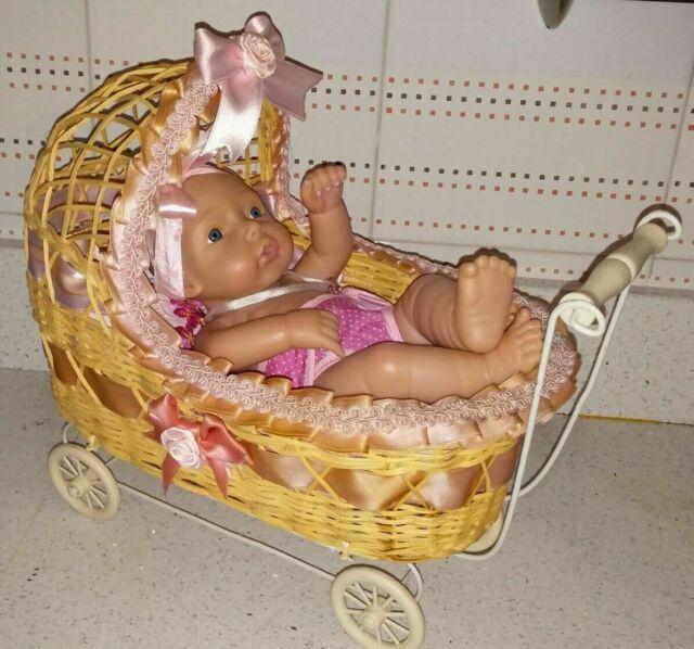 Carrozzina + bambola bambolotto tipo nati ora o reborn