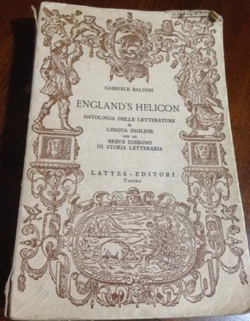 Engalnd's Helicon in lingua inglese letteratura
