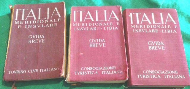 Italia guida breve  due volumi meridionale e insulare