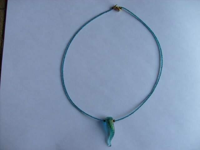 Collana vetro di Murano con cornetto