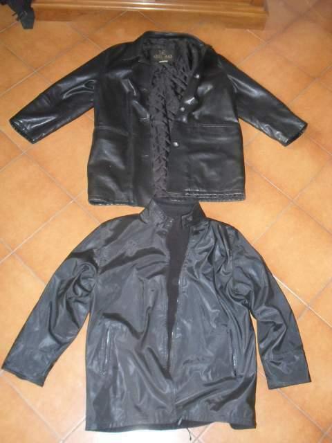 Giacca pelle donna 46 giaccone giacchetto pile rovesciabile
