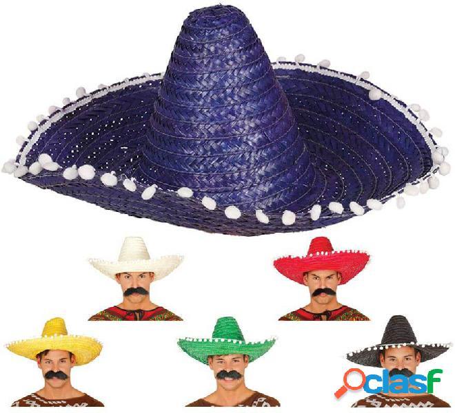 Cappello messicano con nappe in vari colori di 50 cm