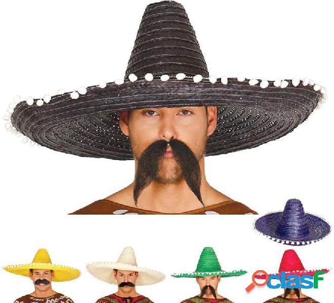 Cappello messicano con nappe in vari colori di 60 cm