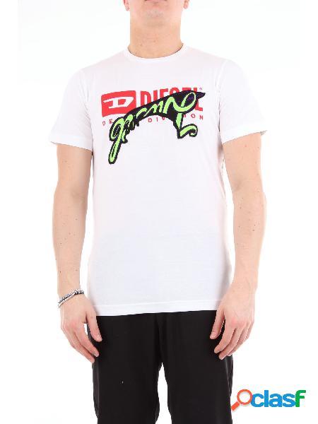 DIESEL Diesel t-shirt maniche corte di colore bianco T-shirt