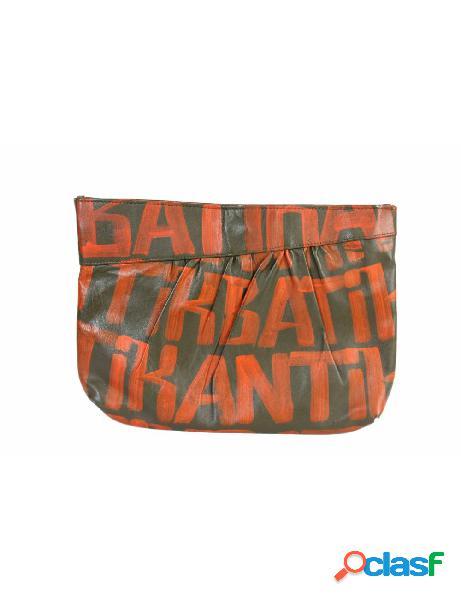 Antik Batik Borsa a Mano Vintage Pochette Pelle Monogram