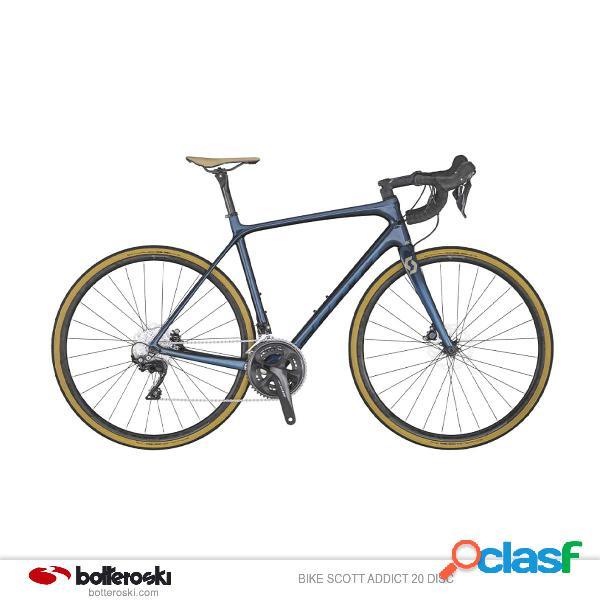 Bici da strada Scott Addict 20 disc (Colore: DARK BLUE,