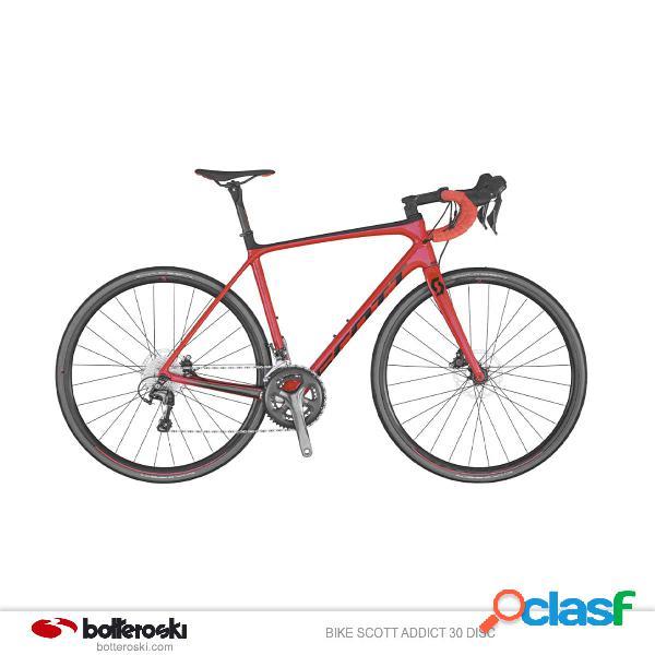 Bici da strada Scott Addict 30 disc (Colore: rosso nero,