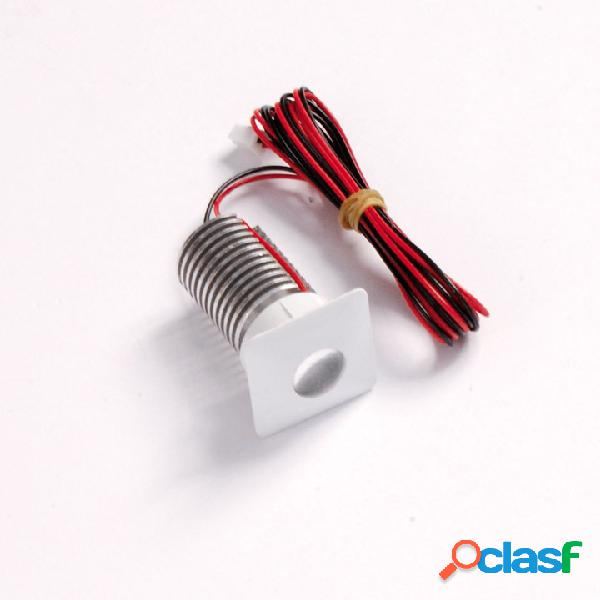 Faretto a LED da incasso 1x3W quadrato 32x32mm - bianco -